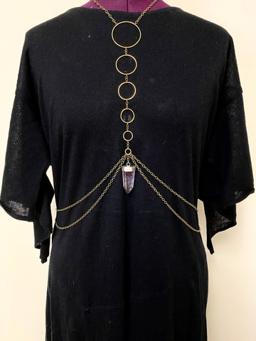 ascension body chain w/ amethyst