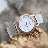 grapevine men watch mesh strap wooden watch barrique winelover winegift winewatch