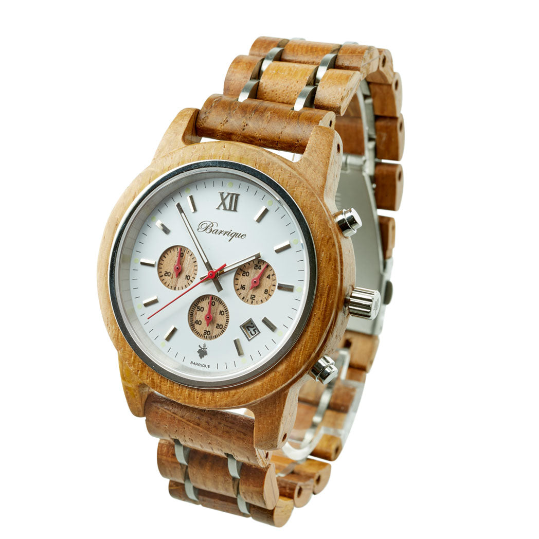 barrique design wooden watch chrono winewatche winelovers winegifts naturelovers