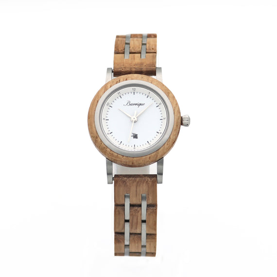 Barrique wine barrel wood watch wooden strap women 30mm