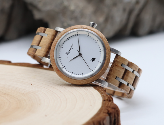 Grapevine Barrique wine barrel wood watch wooden strap women 30mm
