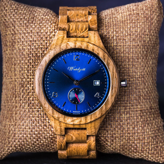 Barrique oak wood watch for him for her gift