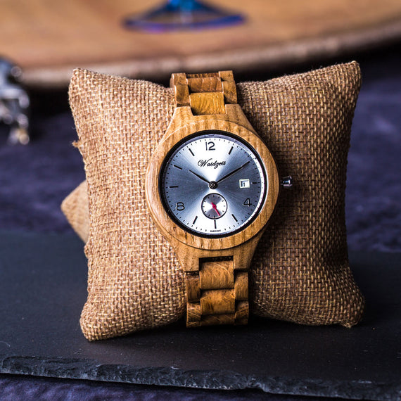Chardonnay Barrique oak barrel watch men unisex wooden watch