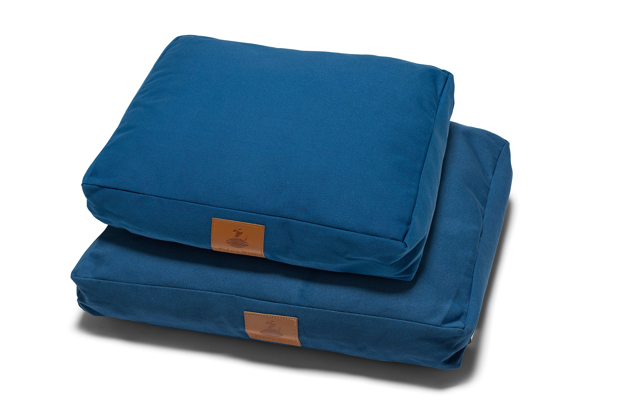 Lupo's Nest | Luxury modern pillow dog bed. Eco-friendly, hypoallergenic, durable and machine washable. Choice of wool or hollow-fibre filling. In Azure Blue.