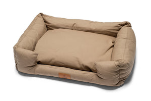 Fido's Nest | Luxury modern crib dog bed. Eco-friendly, hypoallergenic, durable and machine washable. In Cappuccino.
