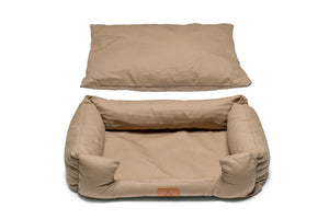 Fido's Nest | Luxury modern crib dog bed. Ecofriendly, hypoallergenic, durable and machine washable. In Cappuccino.