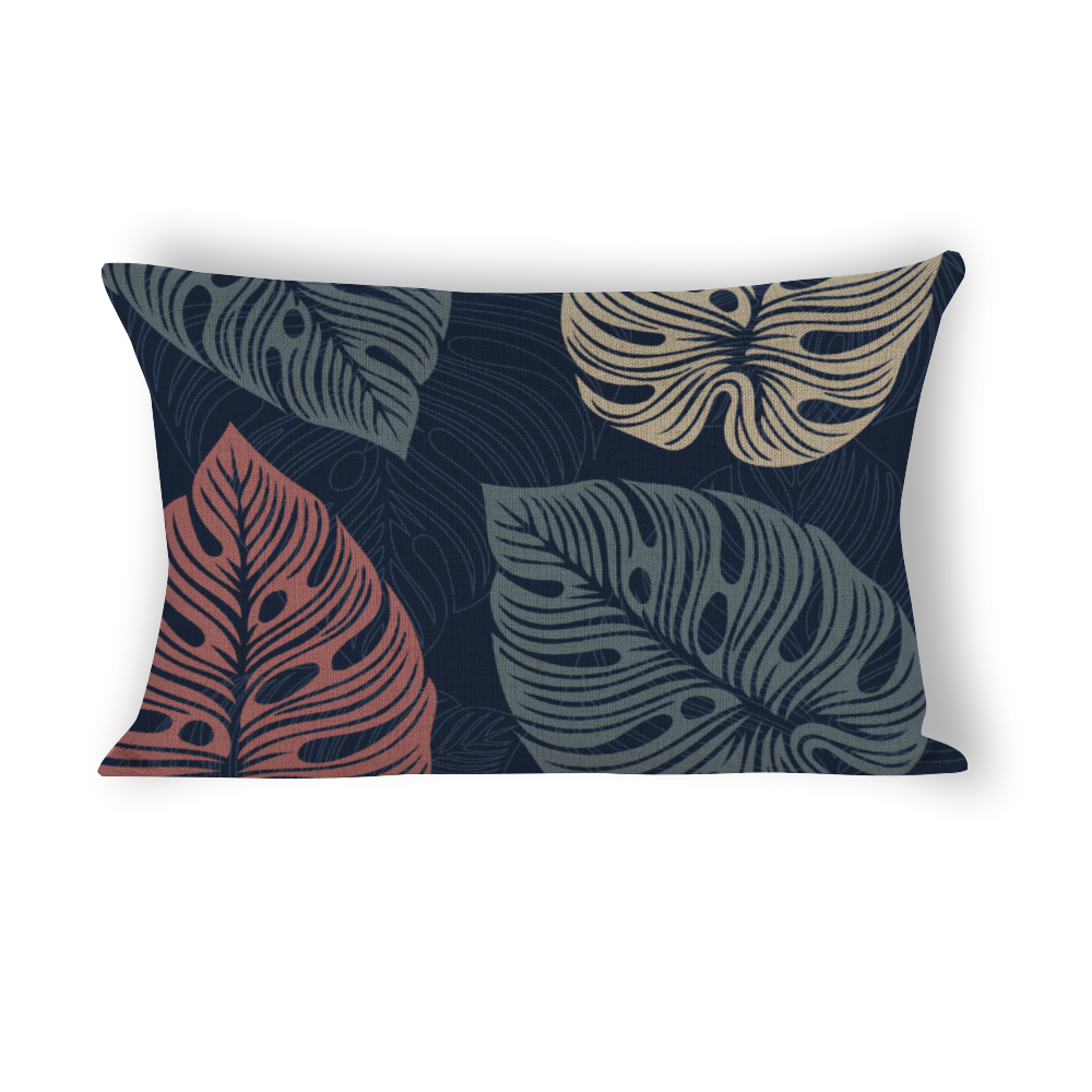 Lupo's Nest | Nestology | Pillow Dog Bed | Tropical Leaves