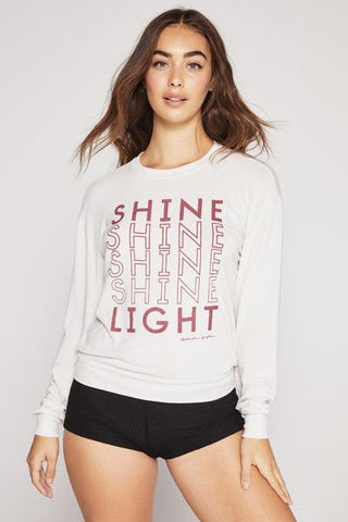 Spiritual Gangster Adult Shine Light Savasana Pullover Stone