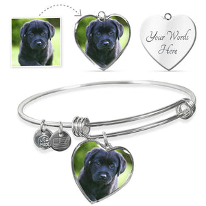 Custom Pup Bangle (Heart)