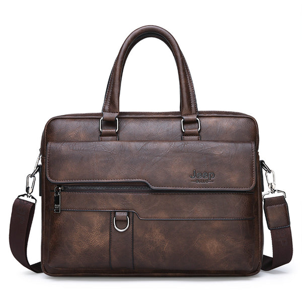 JEEP BULUO Men Briefcase Leather Handbag【3 Colors】