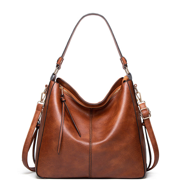 Hobo Genuine Leather Bags for Women【Brown/BLack/Grey Color】