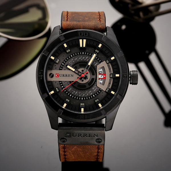 Men's Military Waterproof Leather Watches