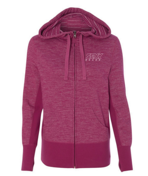 Women's South Of The Border Zip-Up Hoodie in Brilliante Rosa