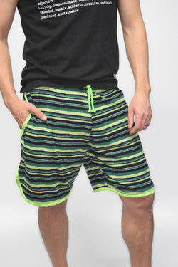 Men's Terry-Cloth Shorts in Green