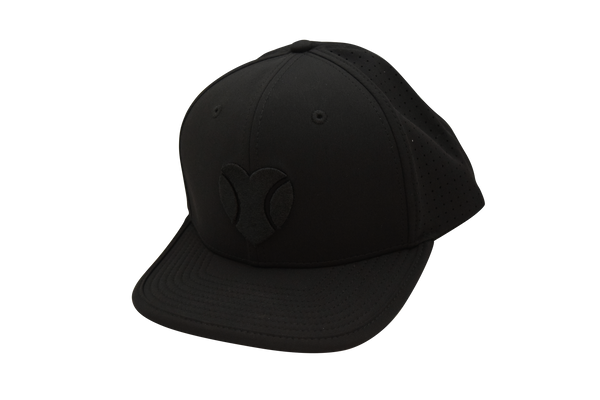"""I Love Beach Tennis"" Flat Bill Hat in Black"