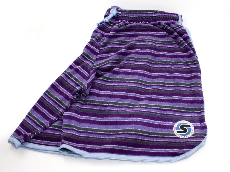 Men's Terry-Cloth Shorts in Purple/Blue