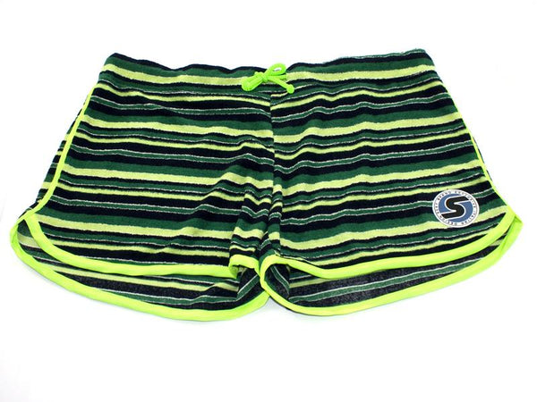 Women's Terry-Cloth Shorts in Green