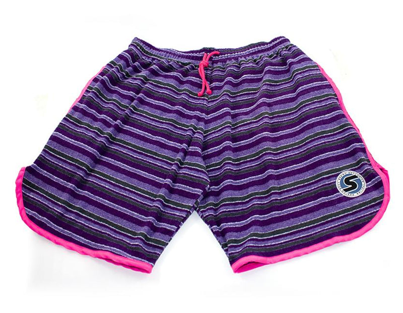 Men's Terry-Cloth Shorts in Purple/Fuschia