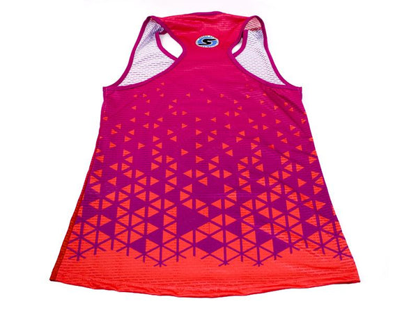 Women's Competition Tank in Purple/Red Ombré