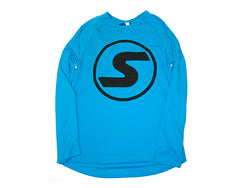 Men's S Logo Light-Weight Long Sleeve in Blue