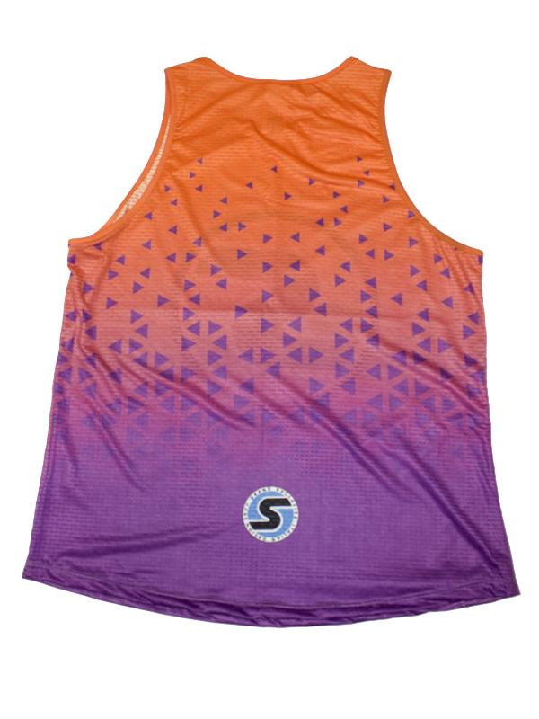 Men's Competition Tank in Orange/Purple Ombré