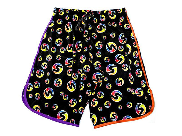 Men's Retro S Competition Shorts in Orangle/Purple