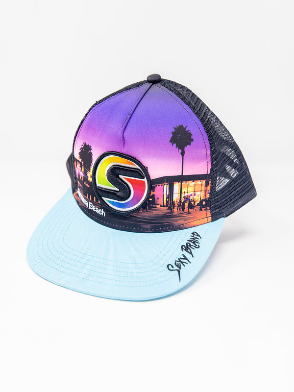 Hermosa Beach Pier Hat in Light Blue