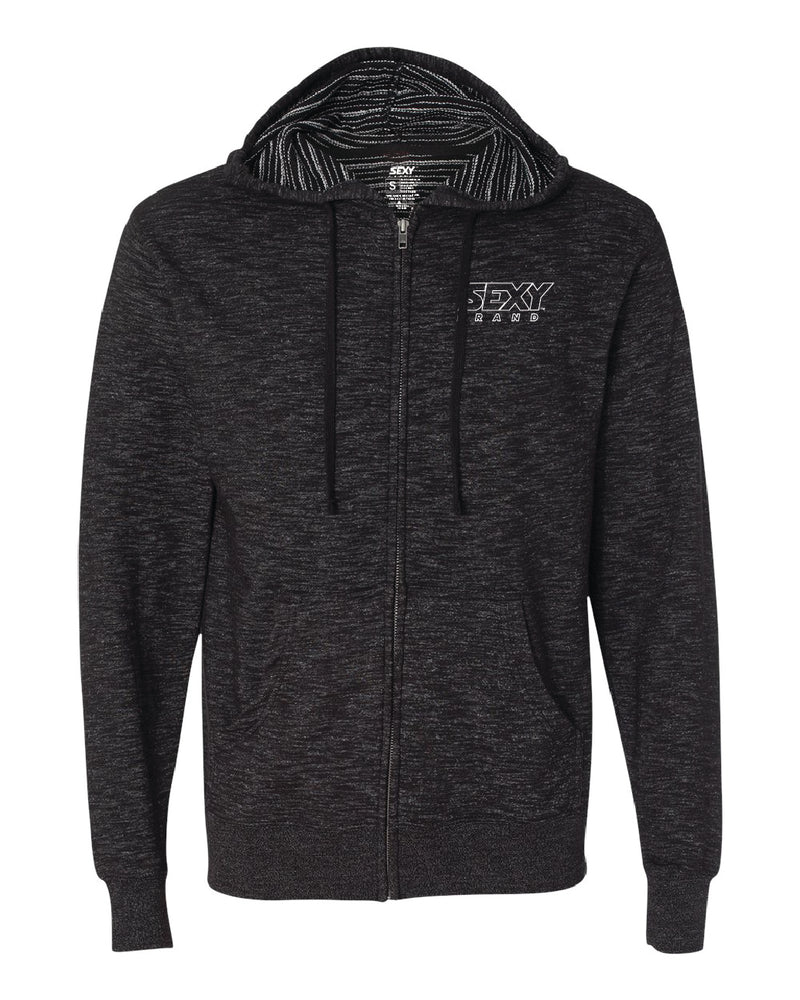 Men's South Of The Border Zip-Up Hoodie in Baja Black
