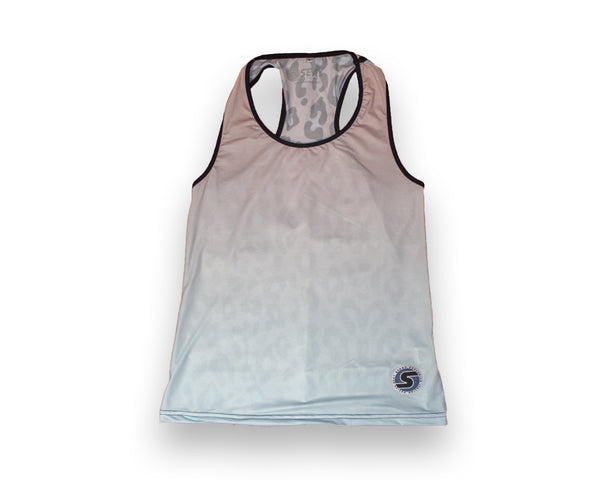 Women's Competition Tank in Pink Leopard Ombré