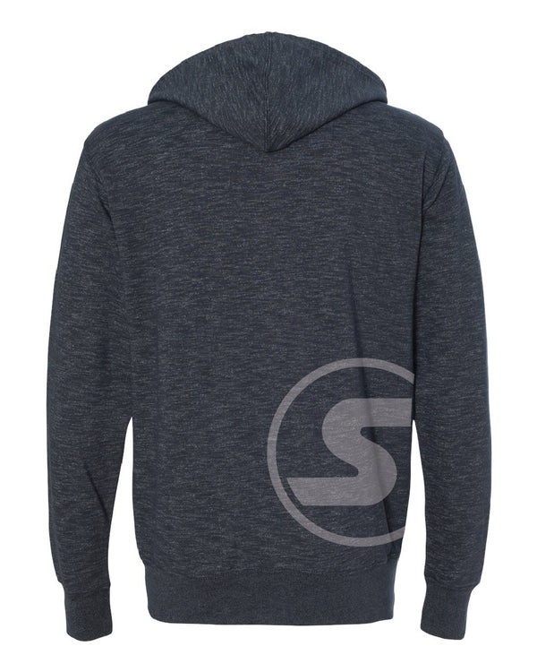 Men's South Of The Border Zip-Up Hoodie in Heather Gray