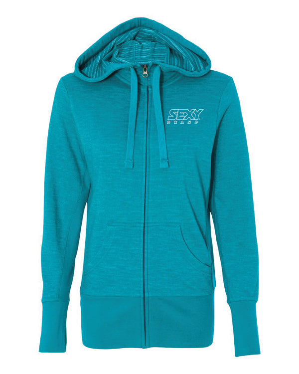Women's South Of The Border Zip-Up Hoodie in Azul