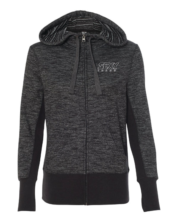 Women's South Of The Border Zip-Up Hoodie in Baja Black