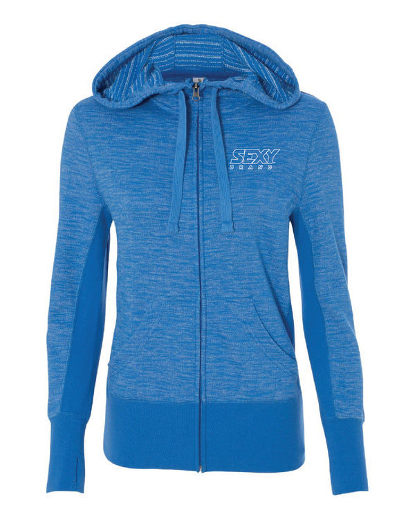 Women's South Of The Border Zip-Up Hoodie in Oceana