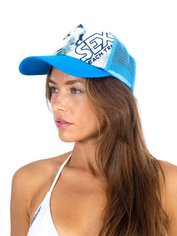 sexy brand paddle in sand beach tennis hat aqua
