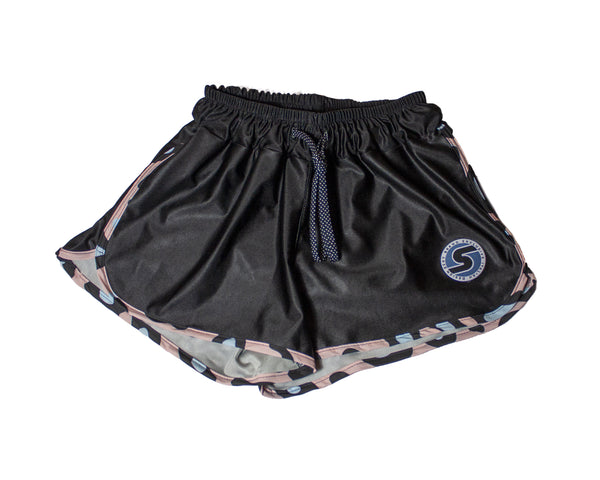 Women's Pink Leopard Competition Shorts