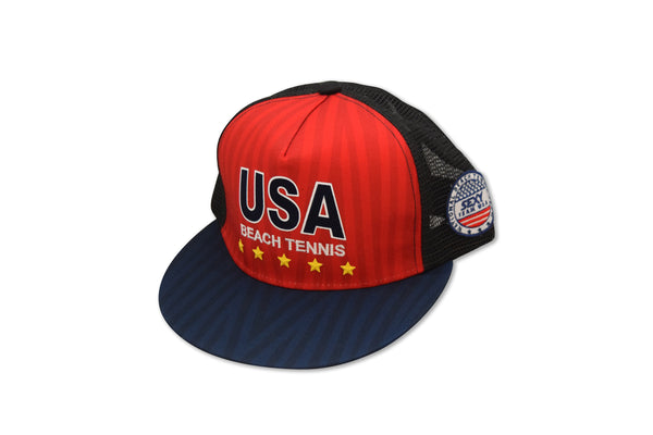 Team USA Hat Red/Black Flat Brim