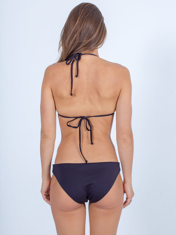 Sexy Brand women's swim bikini black triangle top back view