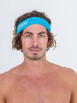 sexy brand beach tennis accessories sweatband aqua blue