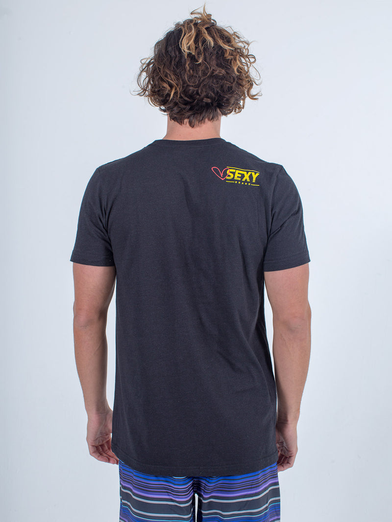 Sexy Brand Men's I Love St. Barth Black Crew Neck T-Shirt back view