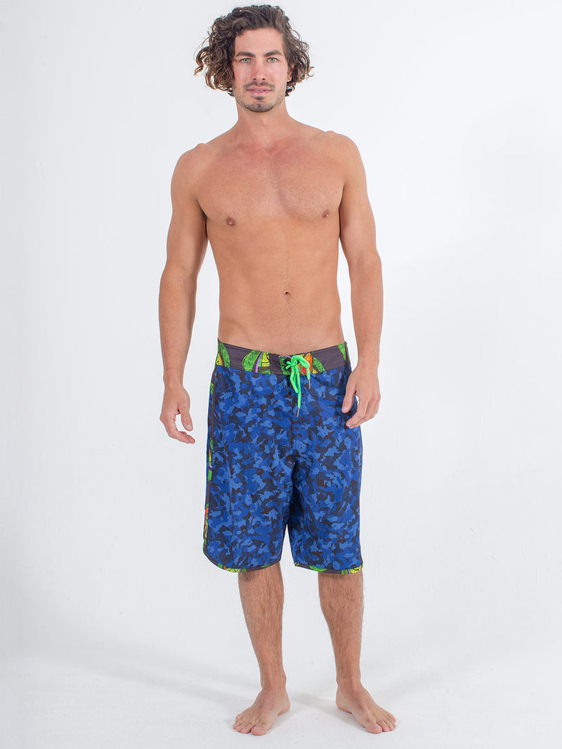 Sexy Brand Mens B'Fly Blue Camo Boardshort