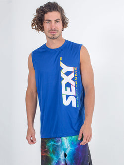 Sexy Brand Stay Dry Competition Tank in Royal Blue