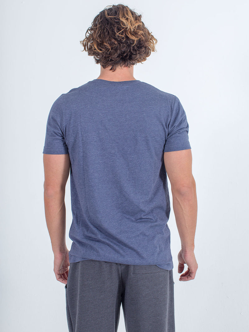 Sexy brand X-Chest Logo Tee T-Shirt in navy blue back view
