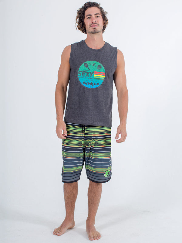 sexy brand mens cali tank in heather gray
