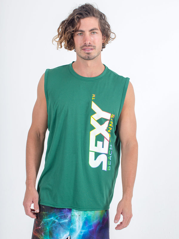 Sexy Brand Stay Dry Competition Tank in Green