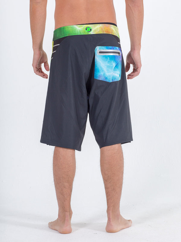 Sexy Brand Men's Boardshort Lightning Black back view