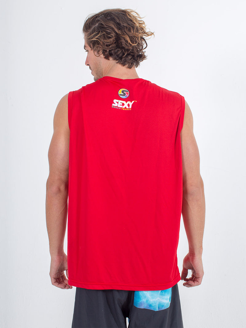Sexy Brand Stay Dry Competition Tank in Red back view