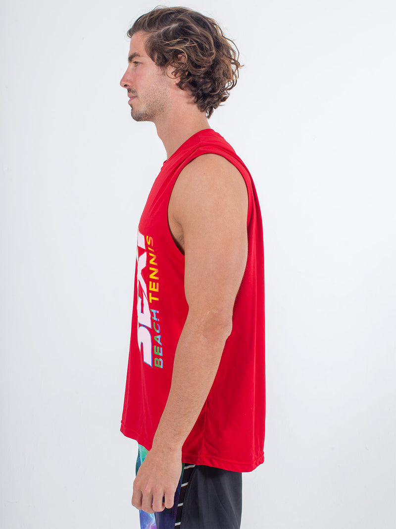 Sexy Brand Stay Dry Competition Tank in Red side view