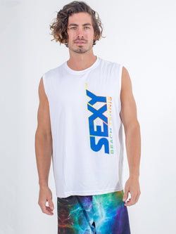 Sexy Brand Stay Dry Competition Tank in White