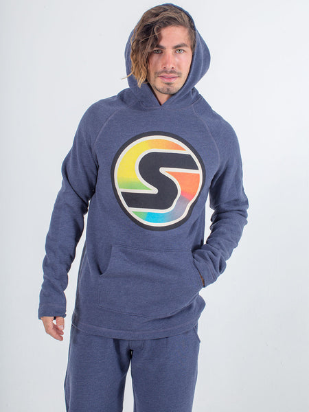 men's hoodie sexy brand big s color heather navy