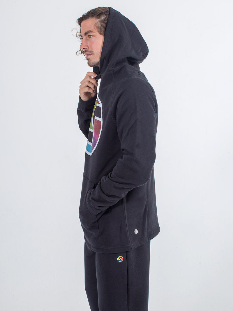 men's hoodie sexy brand big s color black side view